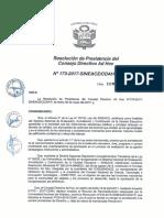 Resolución N°173-2017-SINEACE-CDAH-P