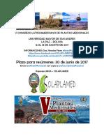 V Congreso Latinoamericano de Plantas Medicinales