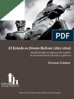 El Estado en Simón Bolívar (1815-1826)