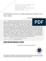 4 Determinants of Access to Credit Among