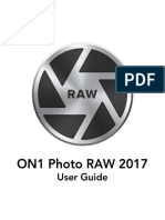 ON1 Photo RAW 2017 User Guide