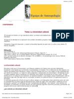 Antropología Social - Diversidad cultural