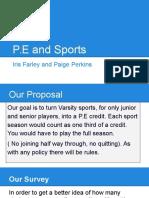 p e and sports
