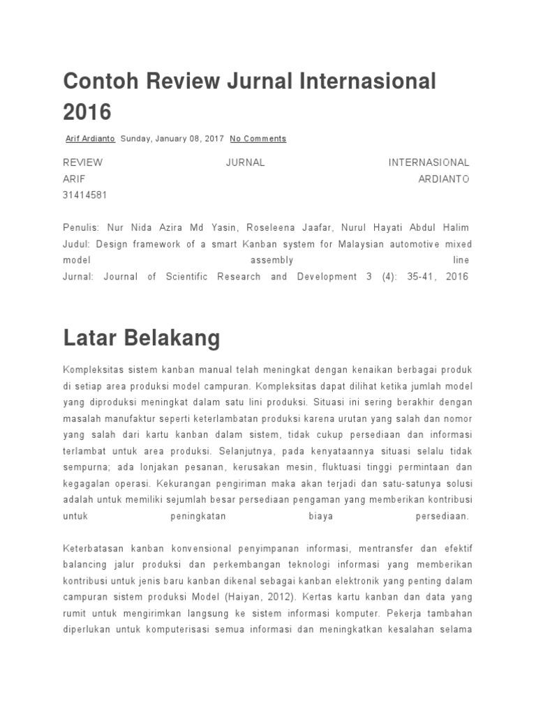 Contoh Review Jurnal Internasional 2016