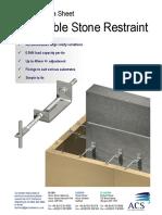 ACS Adjustable Stone Restraint Aug 09 Data Sheet
