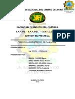 Informe Administracion de Planeación