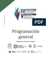 Programacion Congreso de Antropología 2017
