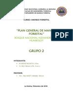 Plan General de Manejo Forestal A. Von Humbolt