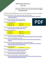 map review check list 201-210-teacher version