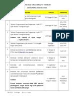 Jadual Kerja Ujian Bertulis PT3 2017