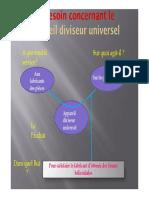 Appareil diviseur universel