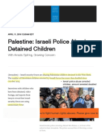 Palestine_ Israeli Police Abusing Detained Children | Human Rights Watch