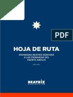 Hoja de Ruta, de Beatriz Sanchez
