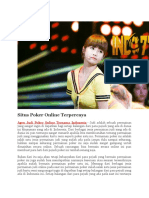 Agen Judi Poker Online Ternama Indonesia