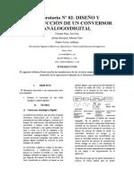 Informe Final 2 DISEÑO Y CONSTRUCCIÓN DE UN CONVERSOR ANÁLOGO/DIGITAL