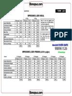 Impresiones Láser Primaria (s.0.04 x Página)