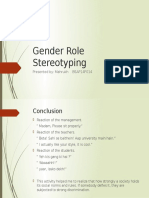 Gender Role Stereotyping