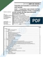 NBR IEC-60439-1- Conjunto de Manobra e Controle de Baixa Tensão (TTA e PTTA)