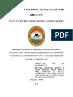 Programa Basado en El Aprendizaje Significado Para El Desarrollo de La Producción de Textos Orales