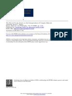 David C. Palmer -- The Role of Private Events in the Interpretation of Complex Behavior