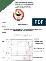 Informe de La Visita de Campo a La Empresa Agroindustrias San Jacinto s.a.A