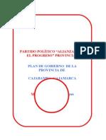 Plan de gobierno del candidato Timoteo Quispe a alcaldia Cajabamba
