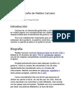 Biografía de Matteo Carcassi