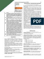 Advertencias e Informacion Sobre Uso y Mantenimieto de Pastecas