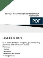 Sistema Integrado de Administacion Financiera
