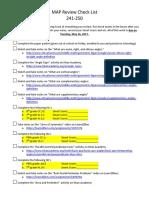 map review check list 241-250-teacher version