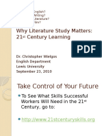 Why Literature Study Matters--21st Century Learning