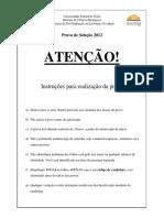 Prova+de+Mestrado+UFG
