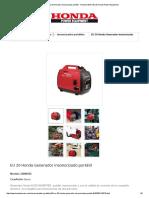 Generador Insonorizado Portátil - Honda _ Web Oficial Honda Power Equipment