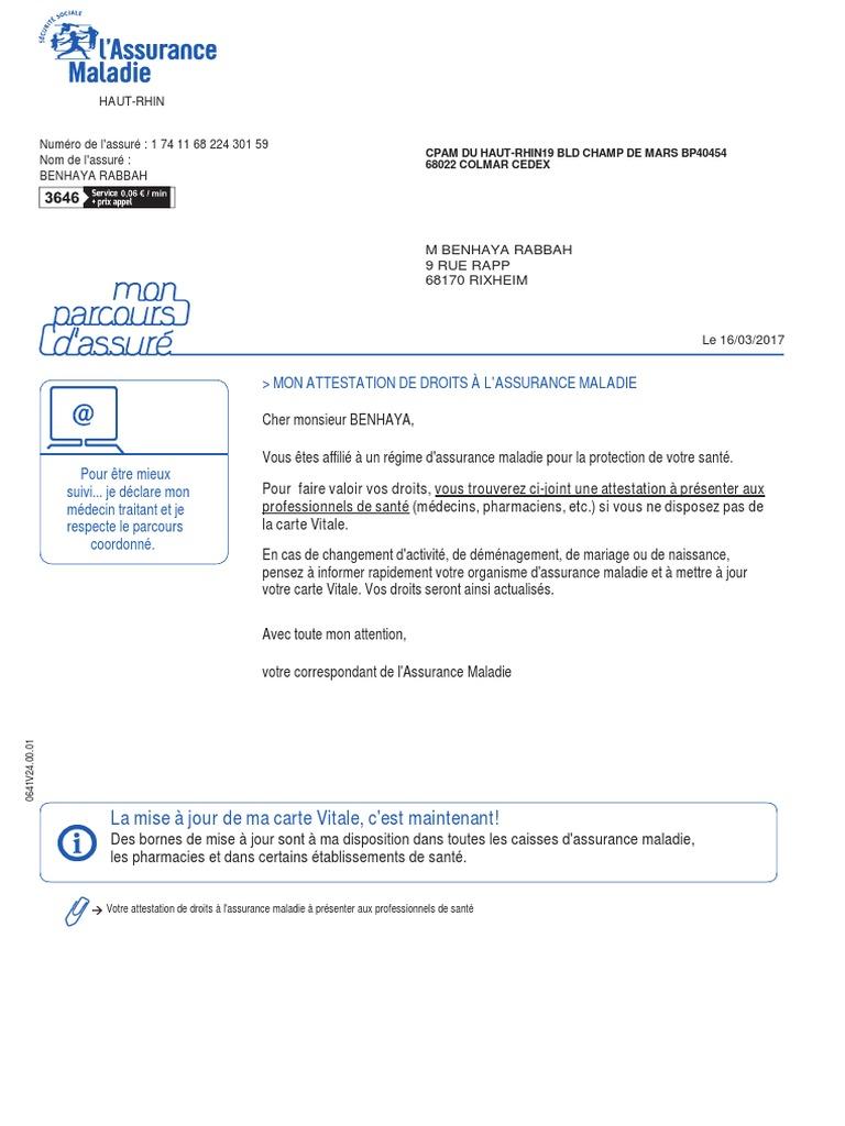 pharmacie avec borne attestation carte vitale AttestationDroits.pdf | Soins de santé du gouvernement | Bien être