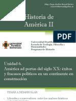 Unidad 6 América Ad Portas del Siglo XX - Historia de América II