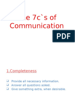 7c`s of effective communication & 7 positive principles