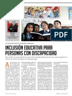 Inclusión Educativa Para Personas Con Discapacidad