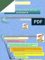 DISGRAFIA-MANIFESTACIONES