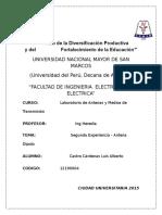 Laboratorio n2 Antena Dipolo