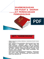 Harmonisasi Peraturan Pusat Dan Daerah