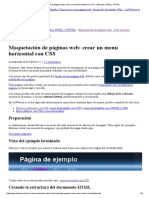 Maquetación de Páginas Web_ Crear Un Menu Horizontal Con CSS __ Ejemplos HTML y XHTML