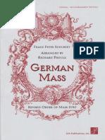 Schubert - German Mass