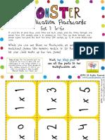 Multiplication Flashcards Set 1