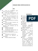 Lista de Chequeo Para Certificacion Ica