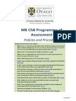 MB ChB Programme of Assessment Policies and Procedures