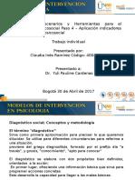 Modelos de Intervencion en Psicologia- Paso 4