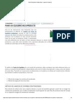 Punto de Equilibrio Multiproducto - Ingeniería Industrial