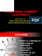 Behavioral Therapy- Contract