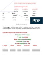 Taller de Repaso Sobre Categorías Gramaticales