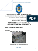 Metodo de Hardy Cross Para Sistemas Cerrados de Tuberias 2013 Docx